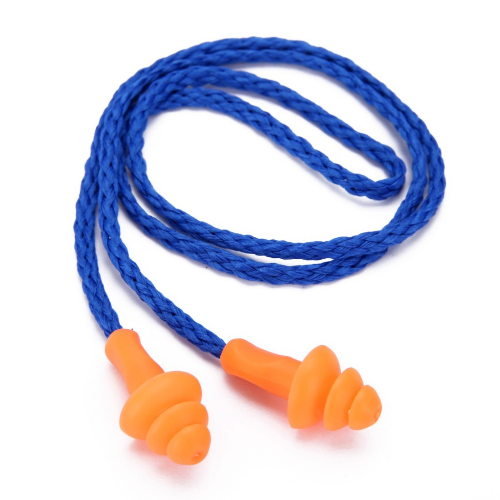 Earplugs 10 Pairs 10 Boxes Blue Silicone Ear Plugs Noise Hearing Protection