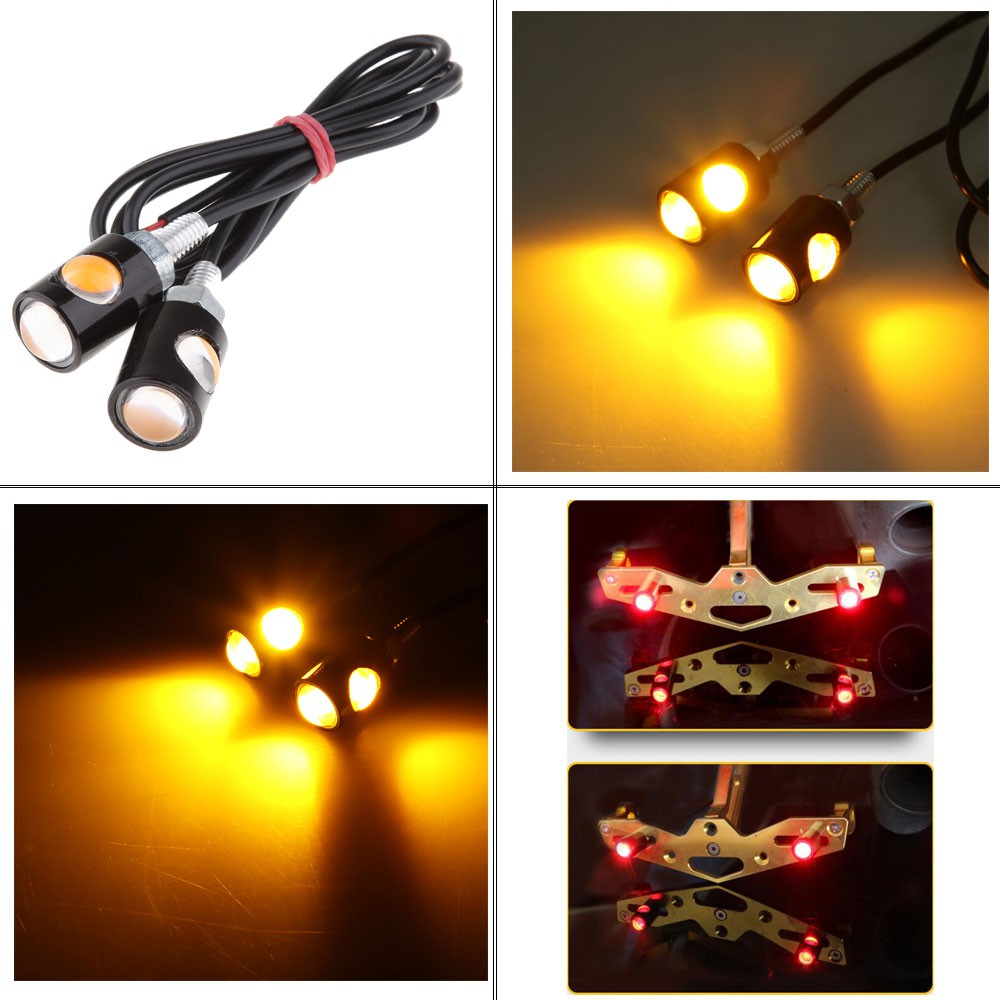 LED Motorcycle ATV Moped Scooter Truck License Plate Stud Screw Bolt Light lamp