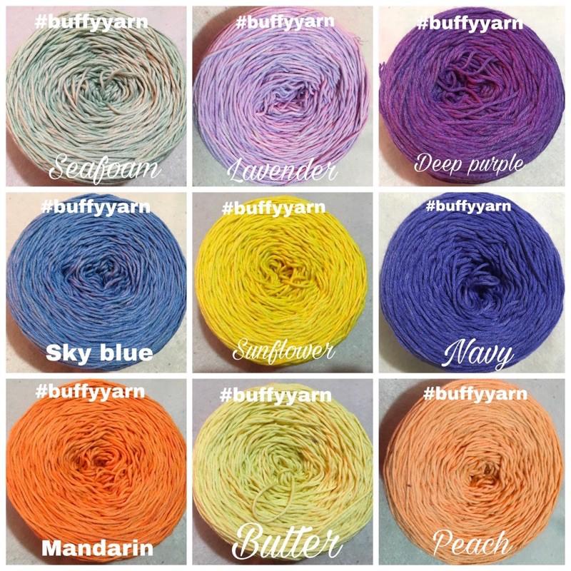 Rainbow Yarn 2 ply yarn Hand Dyed Hand Spun