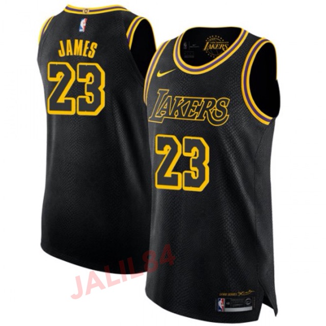 detailed look e181c b8d53 Lebron james black jersey / los angeles lakers black jersey