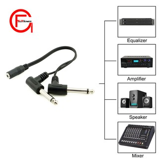 3.5mm to 6.35mm Female 1//4 to 1//8 90 Degree Right Angle Male Jack Stereo Cable Adapter Converter Cord 30cm