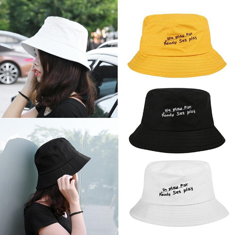 Summer Men Women Bucket Cap Cotton Polyester Hip Hop Beach Fishing Hat OW