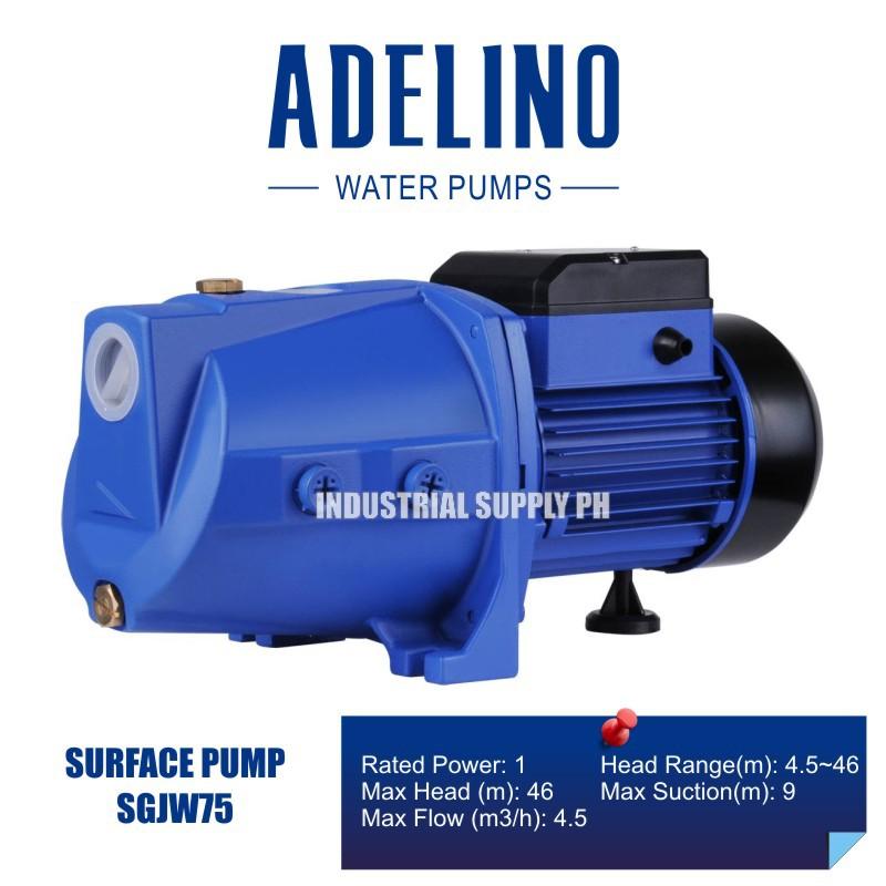 Adelino SGJW75 Self-Priming Jet Water Pump 1 0 HP