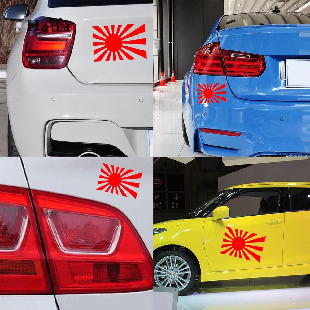 Japanese Rising Sun Flag Decal Car Bumper Window Laptop Truck Vinyl Sticker