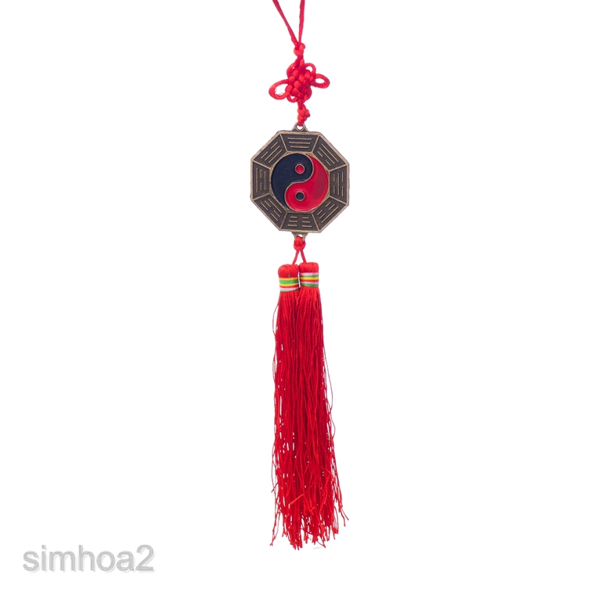 Chinese 5cm Bagua Feng Shui Home Car Hanging Ornament Fortune Wealth Bless