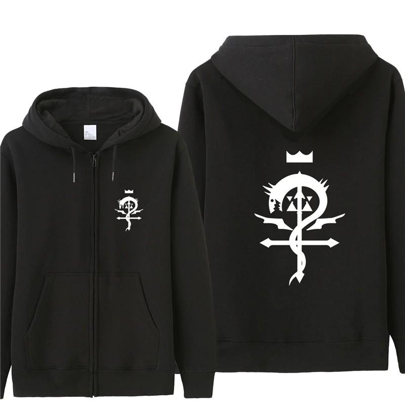 NEW Anime Fullmetal Alchemist Logo Thick Unisex Cosplay Sweater Hoodie Coat