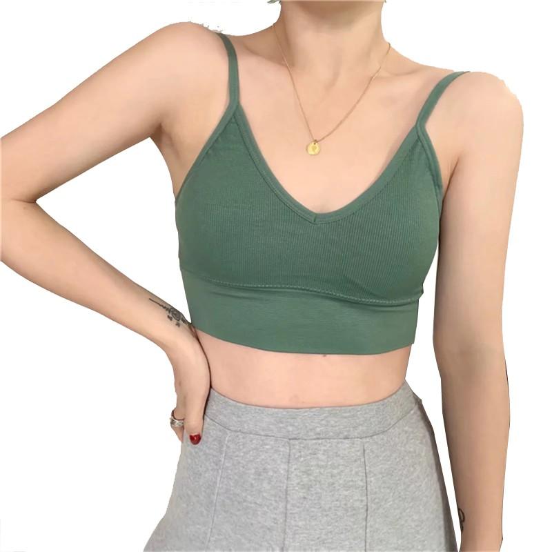 FINETOO Women's Bra Fashion Halter Chest Wrap Seamless French Sexy Lingerie  Bralette Underwear
