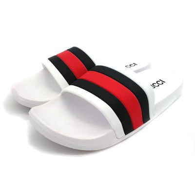 cc5c23ab3002 GUCCI Slides White Black Red (OEM) Premium Quality