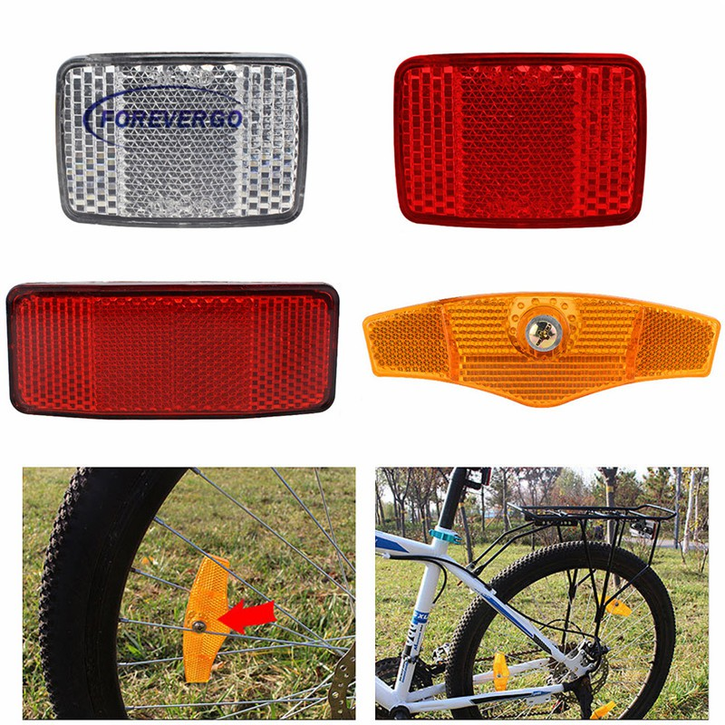 1 Pair Cycle Bicycle Bike Light Reflector Rear Front For Handlebar /& Saddle M5L