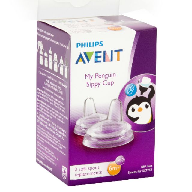 Philips Avent Soft Silicone Spout Replacement 2-Pack