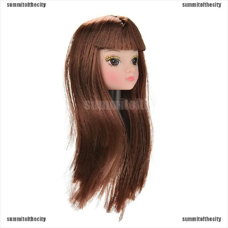 Ysum Doll Head With Flaxen Long Short Hair Diy Accessories For Barbie Doll Ruy Shopee Philippines