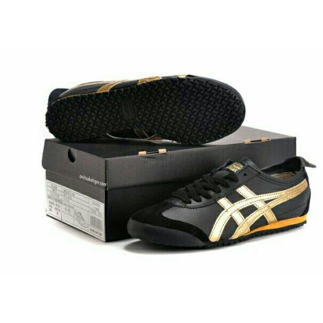 onitsuka tiger mexico 66 black grey gold 50