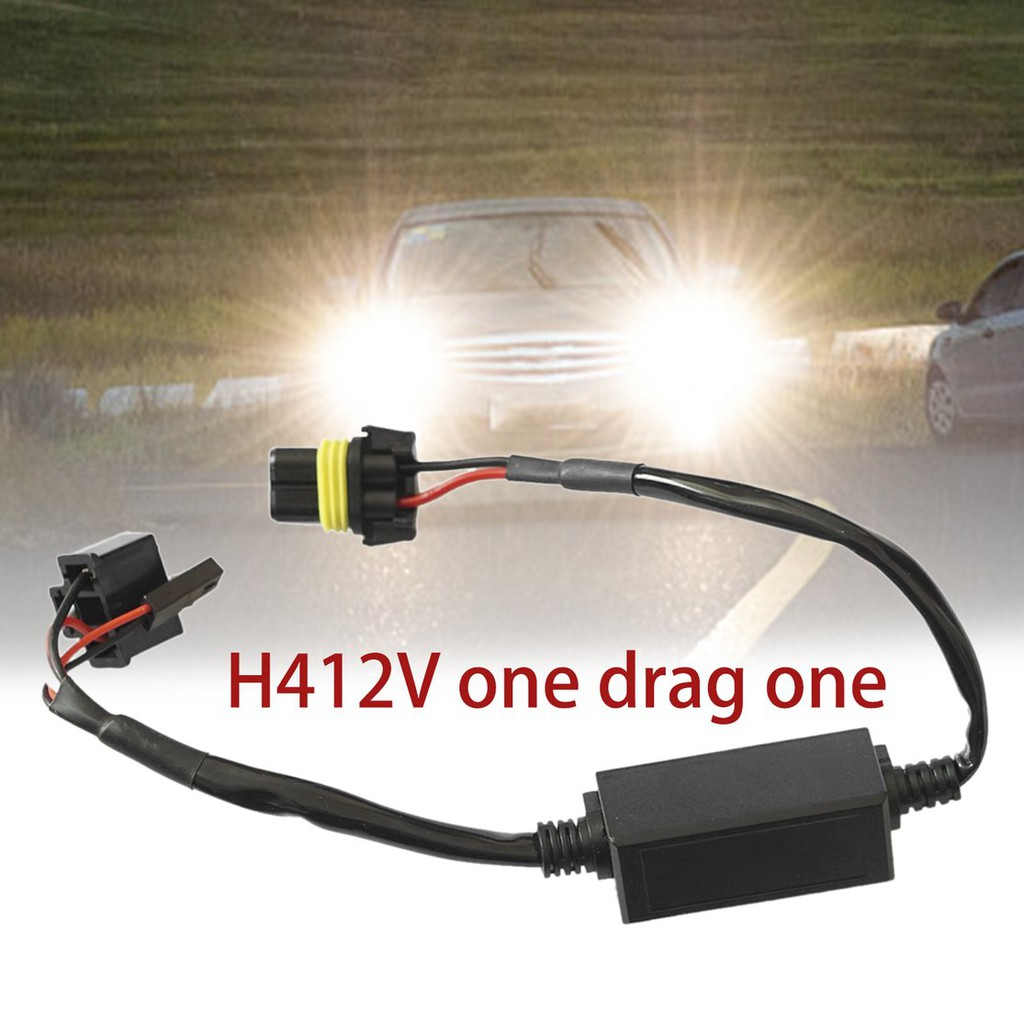 🔵12V Telescopic HID Bixenon H4 Wiring Harness Controller Car Styling on