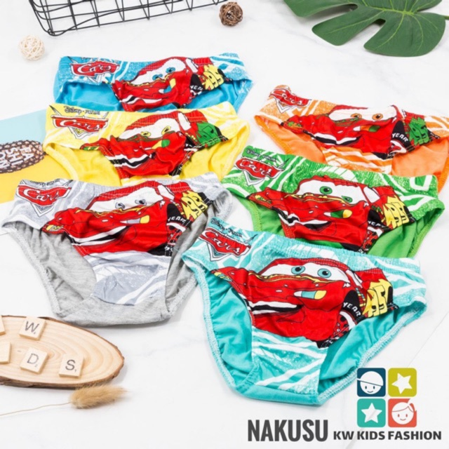 Pack of 3 COTTON BOYS CARS 3 PANTS BRIEFS UNDERWEAR