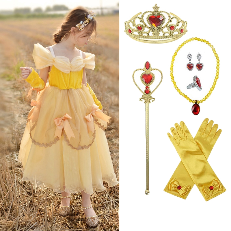 Girls Beautiful Princess Fancy Dress Up Party Costume Halloween Child Outfit New