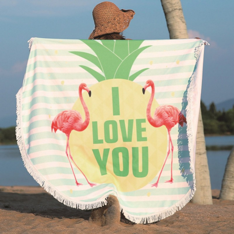 25dda33d8bfea Tassel Bohemian Flamingo Beach Towels Large Picnic Blanket | Shopee  Philippines