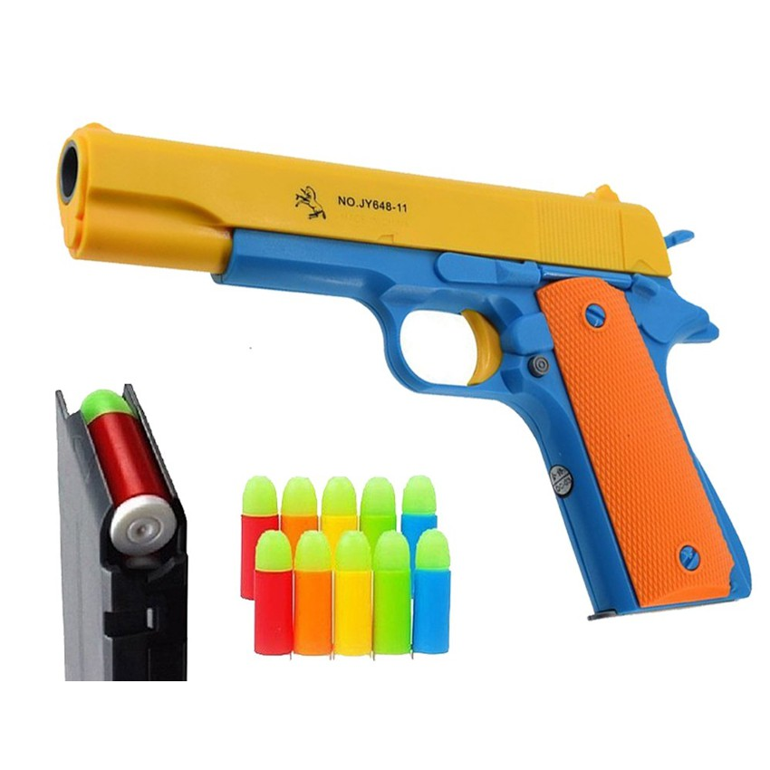 Blaster Cool Toy Gun with 10 Soft Bullets, Ejecting ...