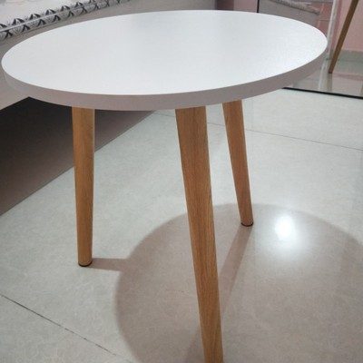 Side Table 40 44cm Creamy White Coffee Bedside Night Desk Round