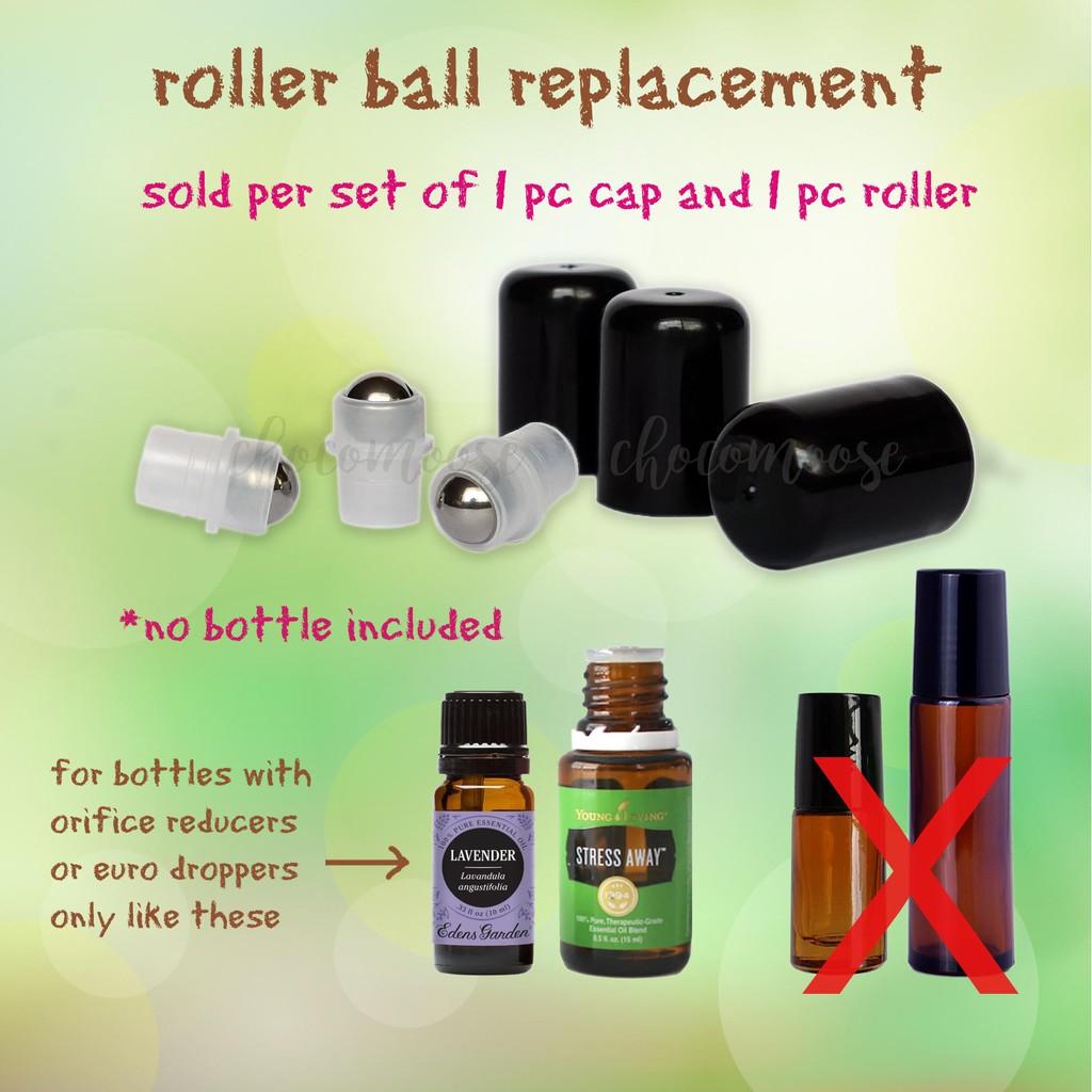 Roller ball fitment for essential oil bottles YL DT EG PT