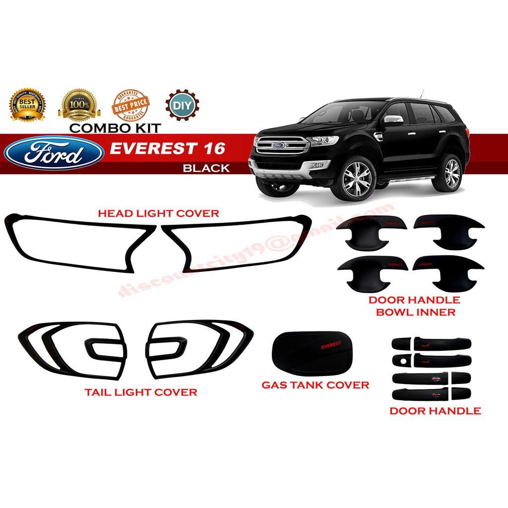 Ford Everest 2016 Combo kit/Garnish Set Matte Black
