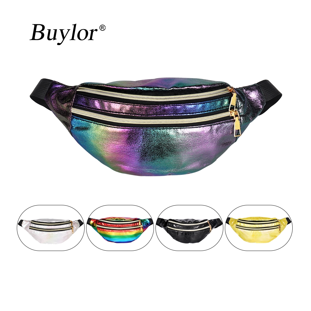 TENDYCOCO Fashion PU Leather Print Fanny Pack Waterproof Waist Bag Casual Chest Bags for Ladies Women Girls