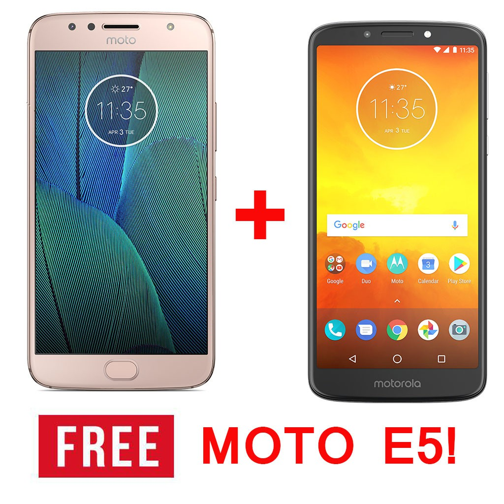 Moto G5S plus Dual Lens camera 4GB/32GB with Moto E5 2GB/16GB FREE!