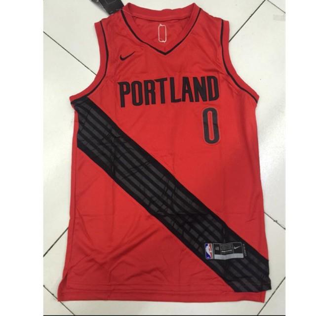 detailed look def67 4f471 NBA PORTLAND #0 LILLARD basketball Nike Jersey