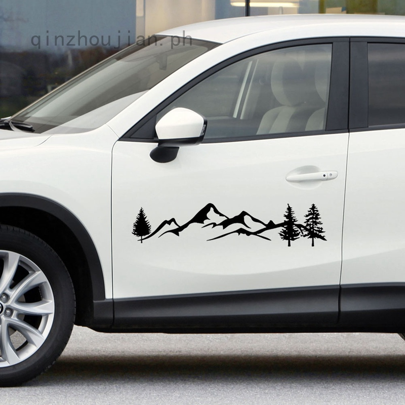 Waterproof SUV RV  PET Offroad Car Sticker Car Decor Auto Decal Tree Mountain