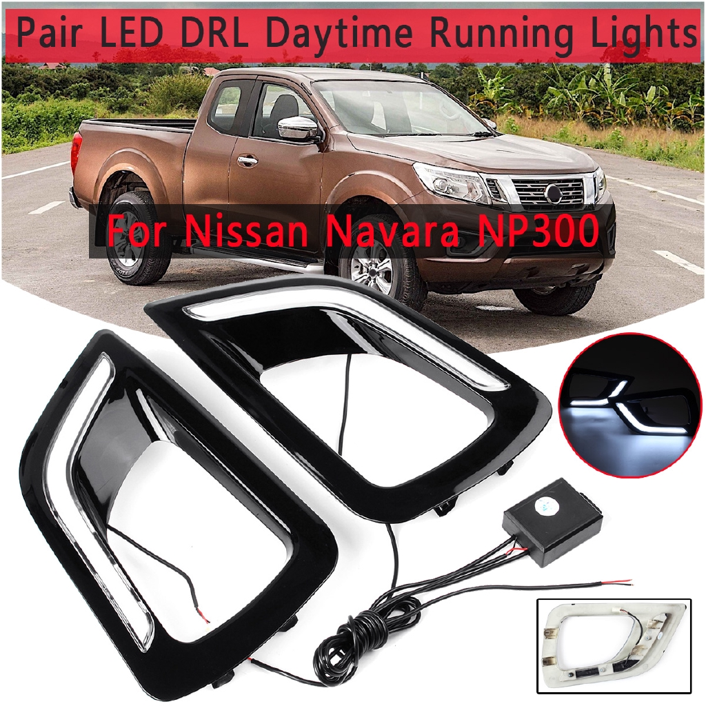 Pair LED DRL Daytime Running Light Fog Lamp For Nissan