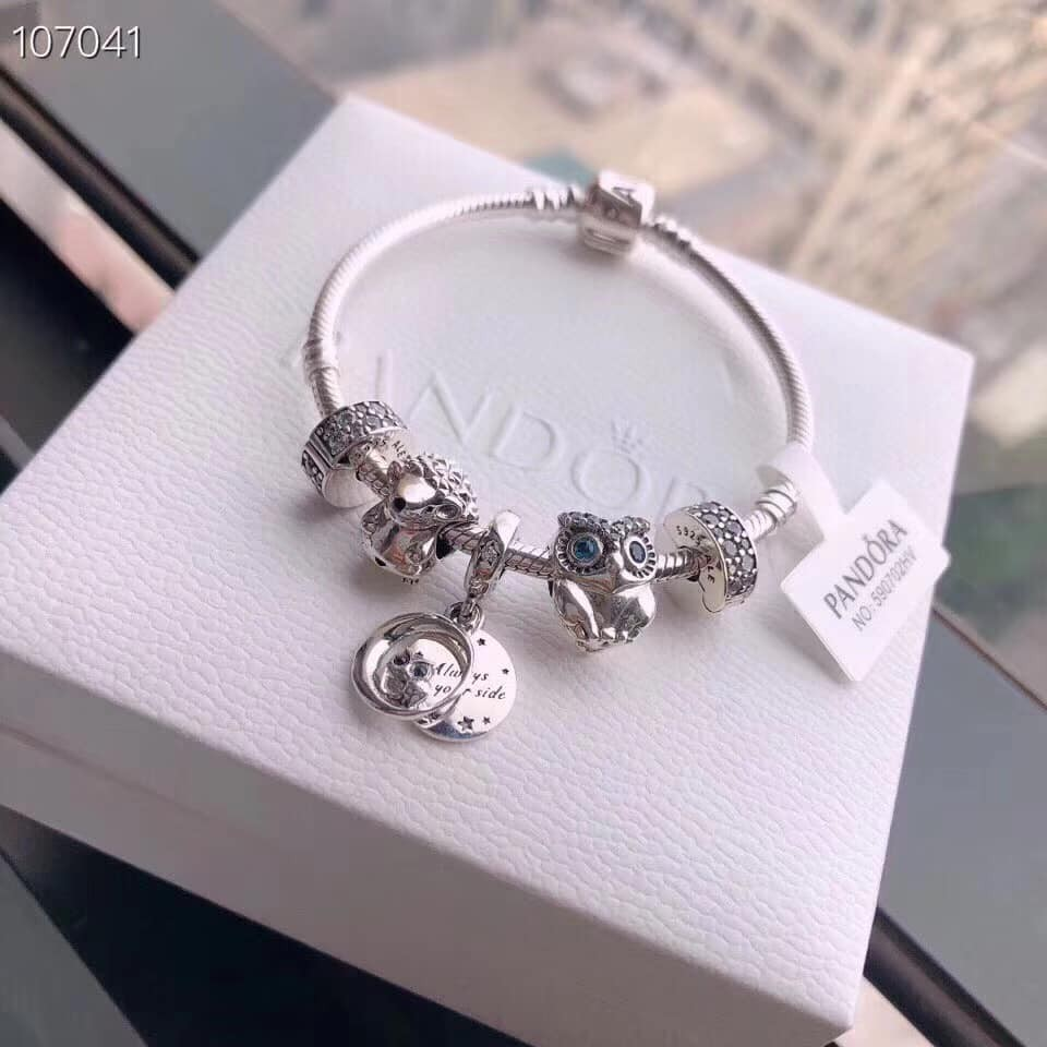 Signature Snake Chain Bracelet With Set Of Charms Owl And Hedgehog Shopee Philippines