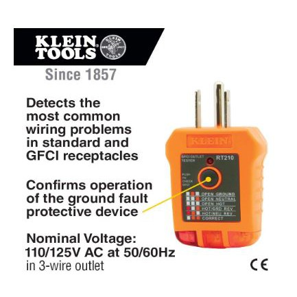Klein Tools Rt210 Ac Electrical Outlet Wire Detector Gfci Receptacle Tester Shopee Philippines