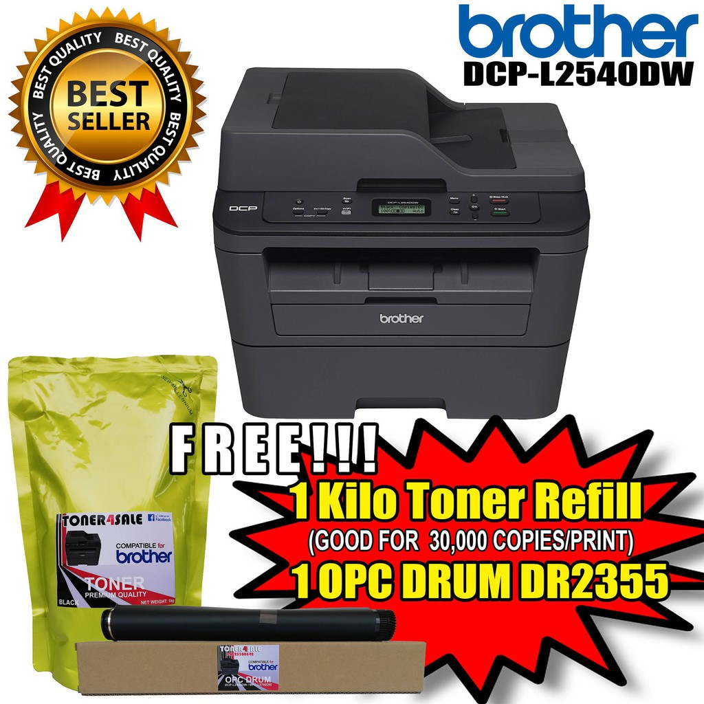 Brother DCP-L2540DW (with free 1 kilo toner and 1 opc drum)