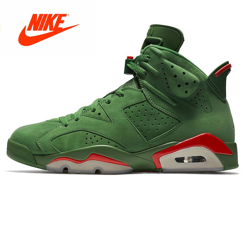 quality design c850f 8bee1 Nike Air Jordan 6 Gatorade AJ6 Green Suede Basketball Shoes