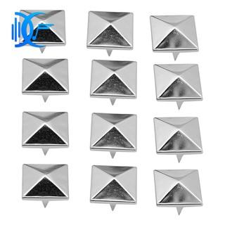 ⚓⚓100 Pcs 12mm Silver Pyramid Studs Nailheads
