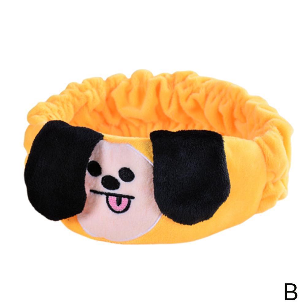 Kpop BTS BT21 V Same Headband Cotton Hair Band CLEANSING BAND Headgear Eye Mask