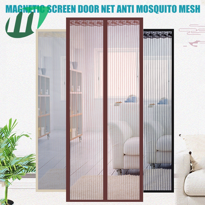 Ultra Low Price Magnetic Screen Door Net Anti Mosquito Mesh Hands Free Curtain For Doors Patio Shopee Philippines