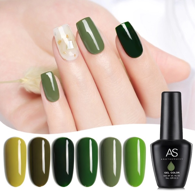 New As Another Sexy Olive Green Series Gel Polish 15ml