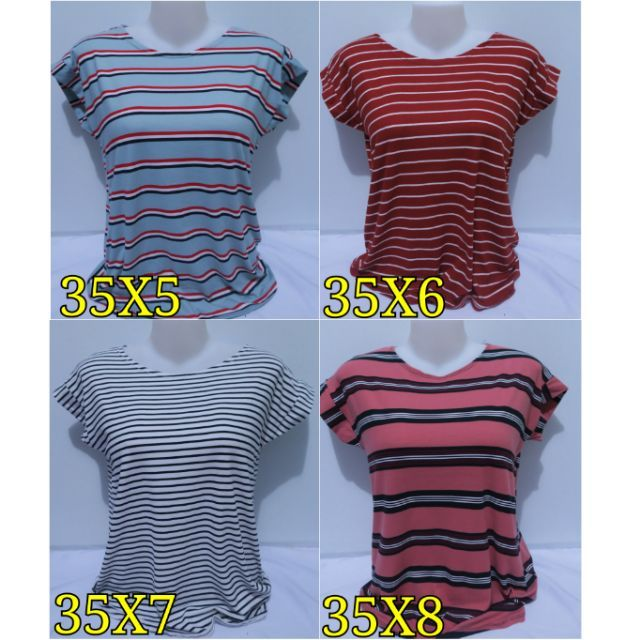 Trendy Daily News: NEW TRENDY DAILY BASIC BLOUSE STRIPES TOP M TO SEMI XL