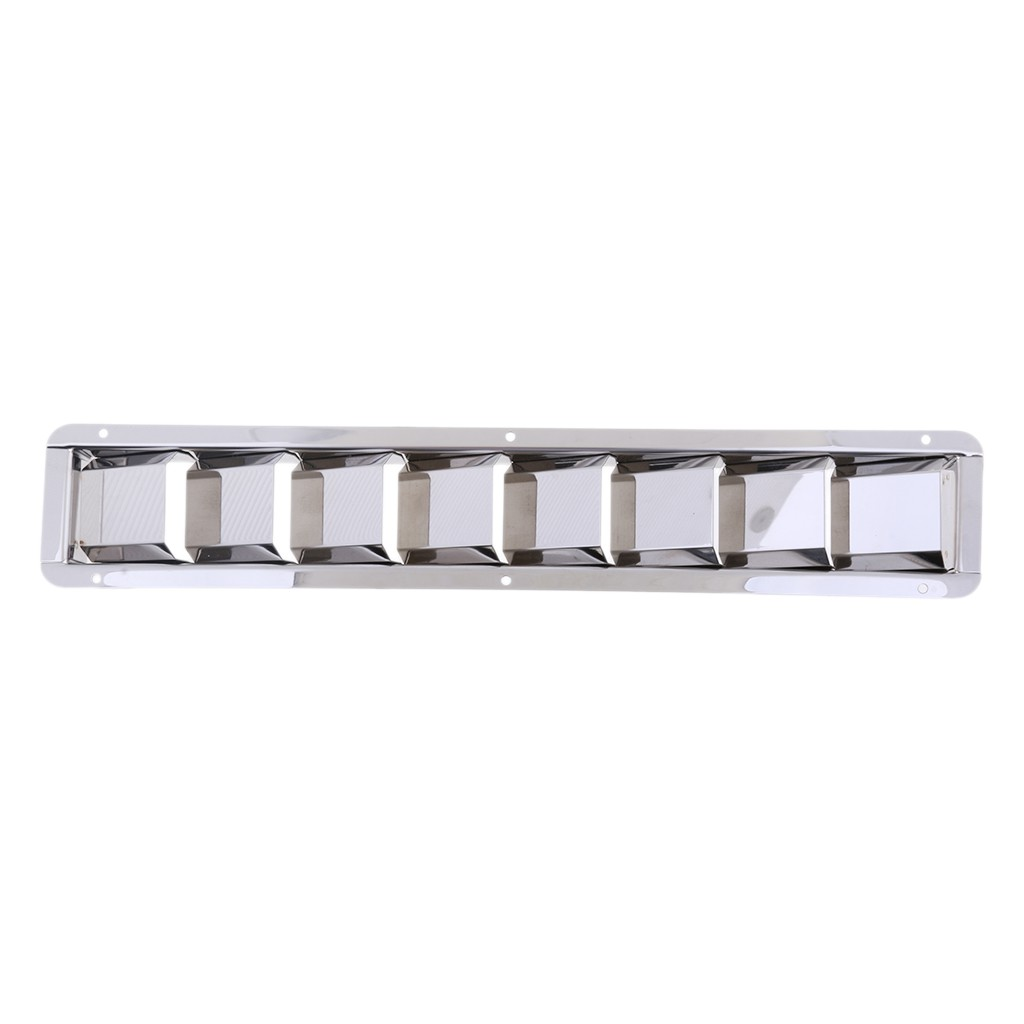 2X Durable Stainless Steel Marine Boat Louver Air Vent 8 Slots Ventilation