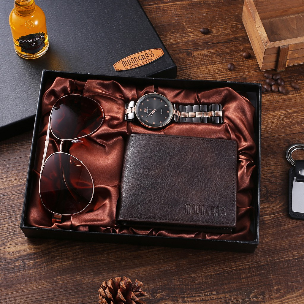 Men S Business Gift Set Glasses Large Dial Quartz Watch Wallet Boy Men Sunglasses Men Birthday Surprise Watch Gift Box For Father S Day Birthday Gift Valentine Gift Ss10195 Shopee Philippines
