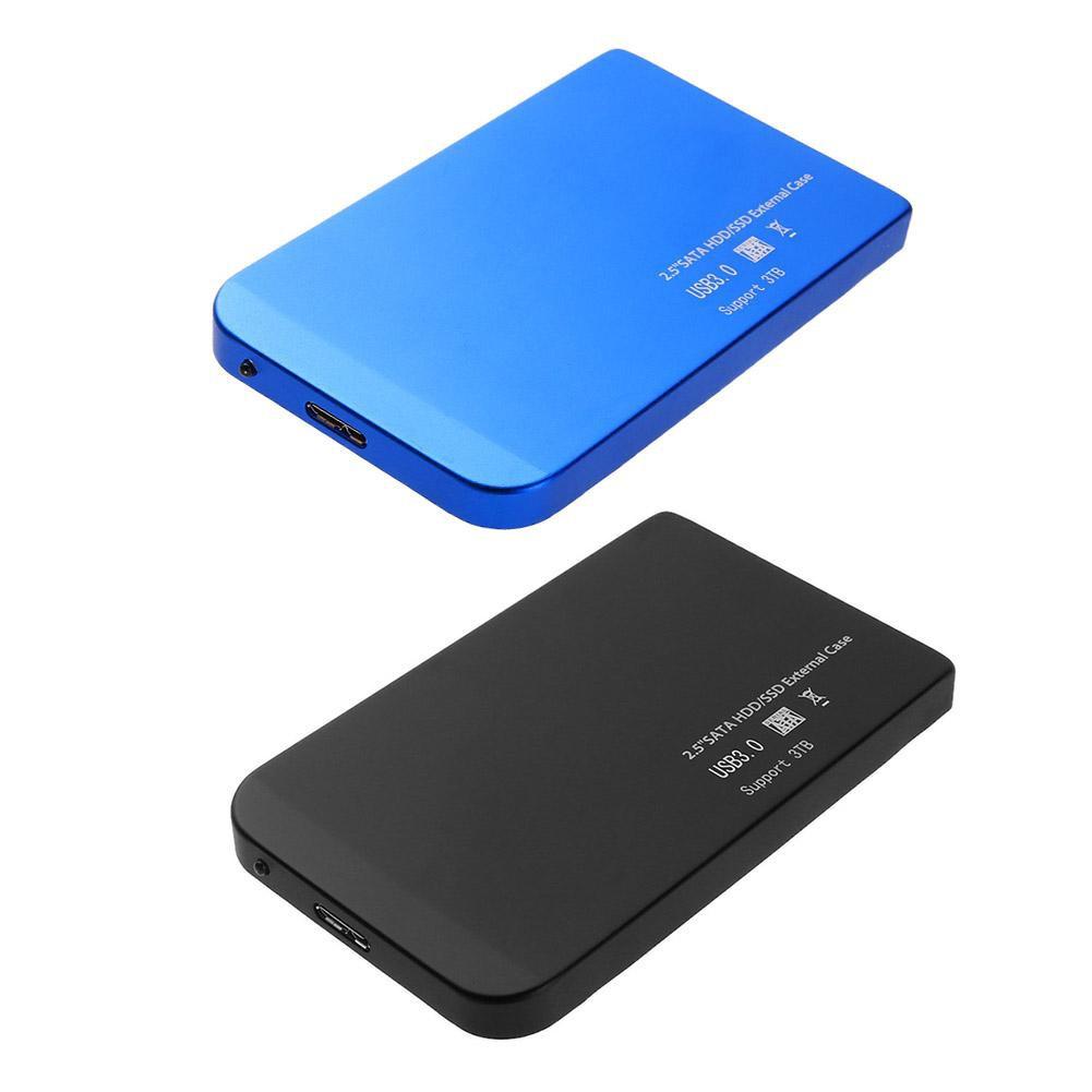 """External Backup Hard Drive Case 2TB USB 3.0 Enclosure 2.5/"""" Portable HDD//SSD Sata"""
