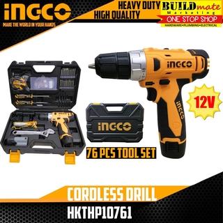 INGCO Cordless Drill 12V 76PCS Tool SET HKTHP10761   Shopee Philippines