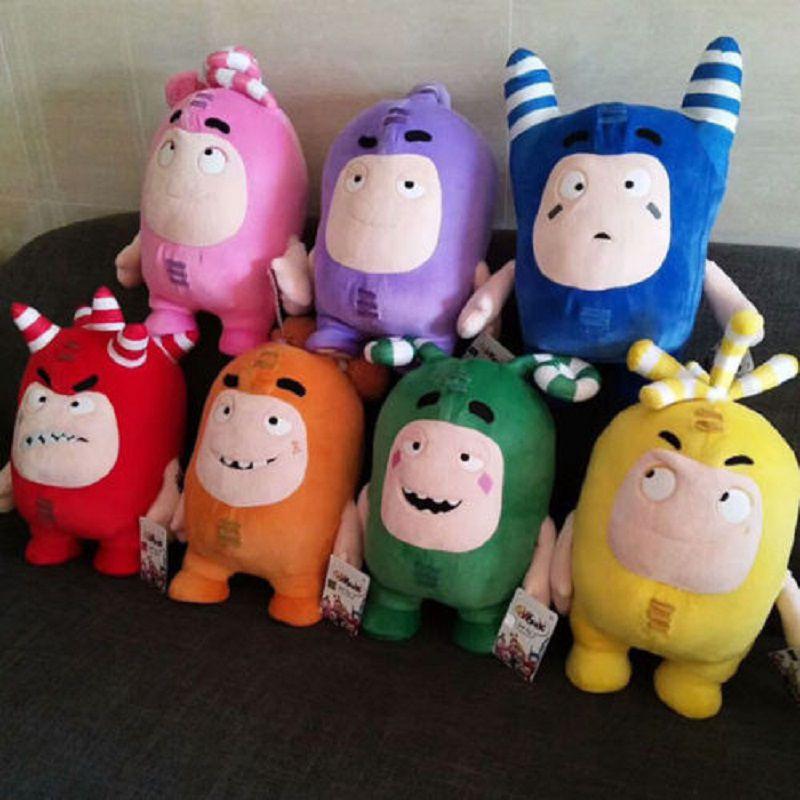 30cm Oddbods Plush Soft Cuddly Toy New Bubbles Pogo Zee Jeff Fuse Slick Plush