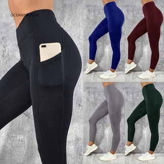 top-rated discount professional website color brilliancy ♥OA Elastic Women Fitness Yoga Running Stretch Leggings Pants with Pocket