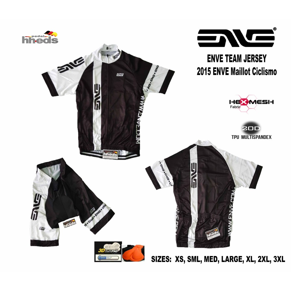 7f037a350 ENVE WHITE BLACK 2015 CYCLING JERSEY SHORTS SET