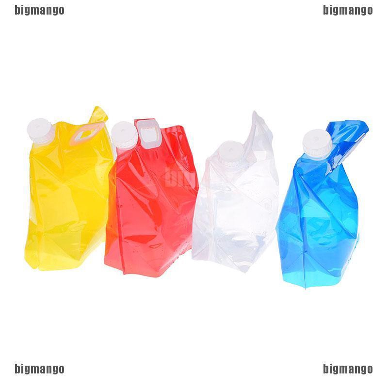 1pc 5l foldable collapsible drinking water bag car water carrier container SR