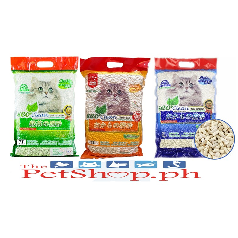 Eco Clean Tofu Cat Litter Clumping 7l Set Of 2 Shopee Philippines