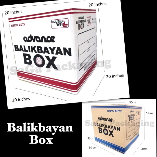 Advance Balikbayan Box (Heavy Duty)