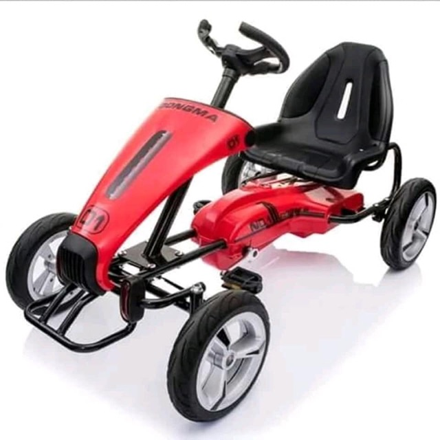 Dongma Kids Go Kart Pedal Go Cart Ride On Car w Rubber Tires