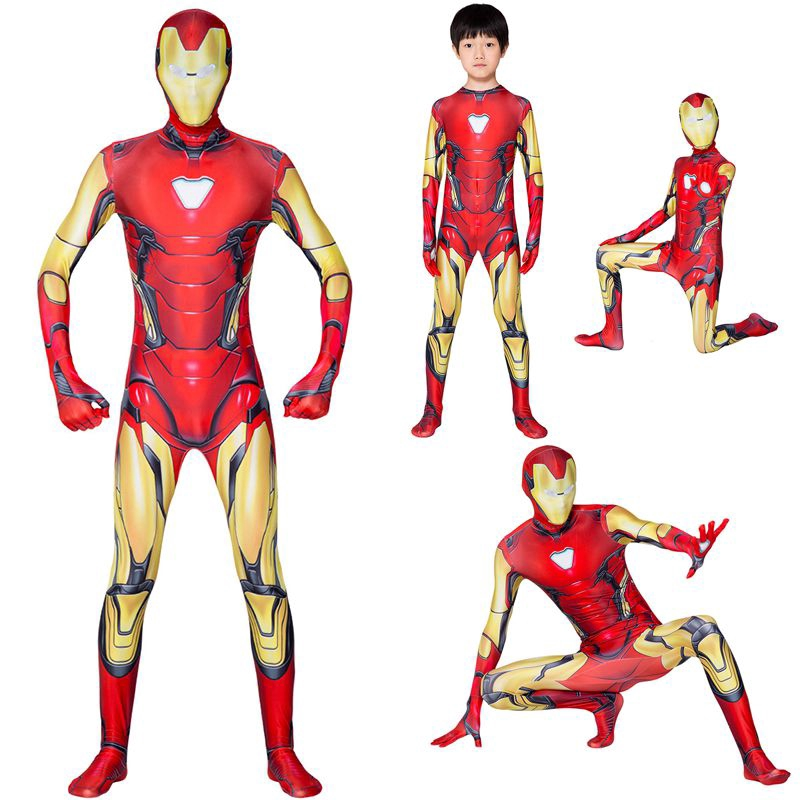 Avengers Endgame Iron Man Mark 85 Cosplay Costume Zentai Suit  For Adult /& Kids